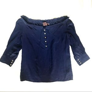 Juicy Couture silk shirt sz 2